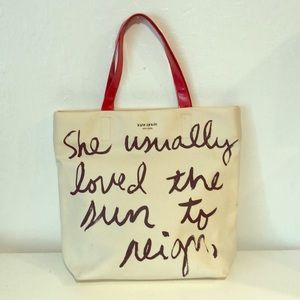 Kate spade tote bag, used but in good condition!